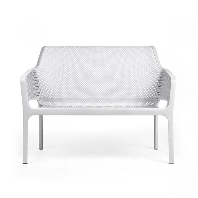 Ghế nhựa ngoài trời cao cấp Net Bench màu trắng