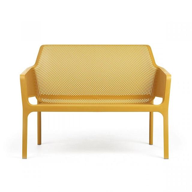 Ghế nhựa ngoài trời cao cấp Net Bench màu vàng