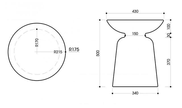 Kích thước bàn góc trang trí sofa ST15