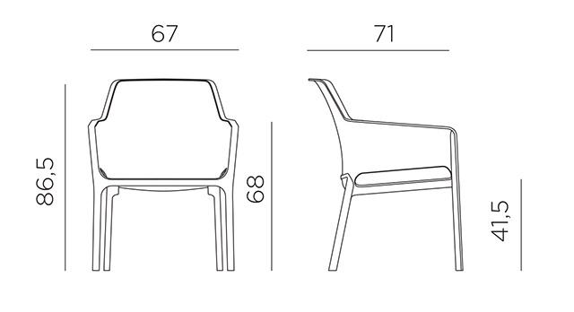 Kích thước ghế Net Relax