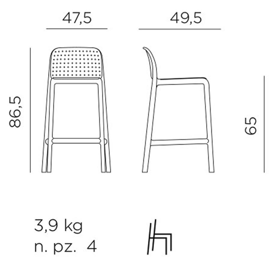 Ghế quầy bar Lido mini stool