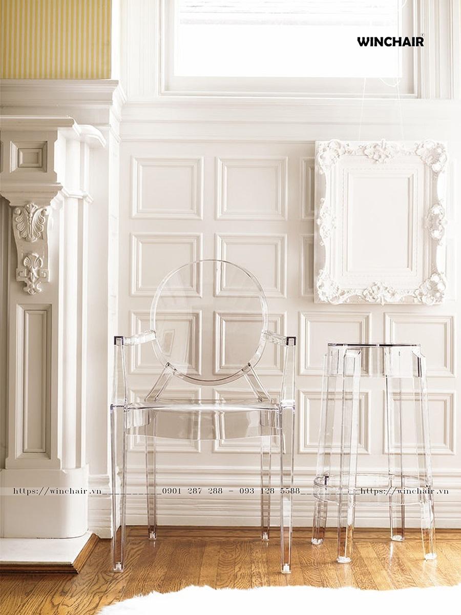 Mẫu ghế nhựa trong suốt đẹp nhất