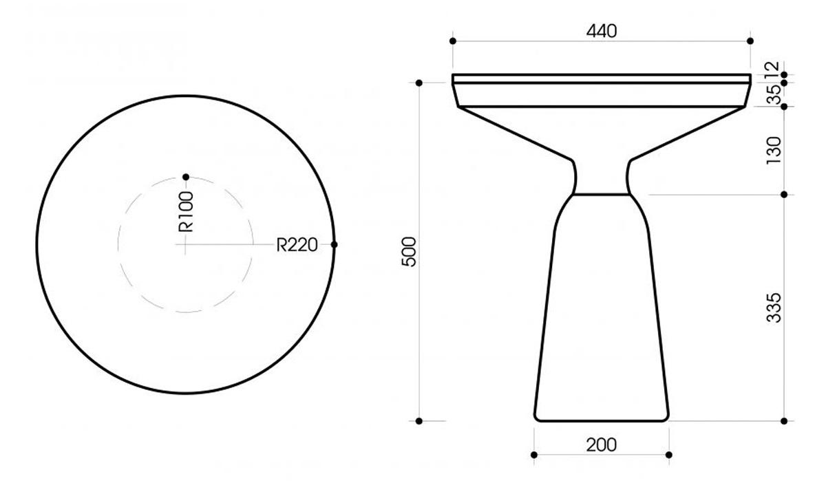 Bàn góc trang trí sofa ST09