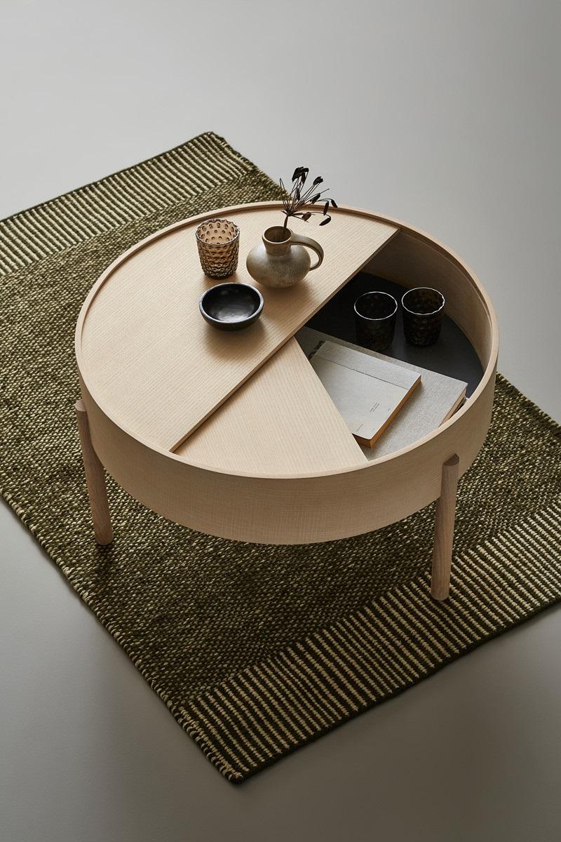 Bàn Trà Sofa Độc Đáo Woud Arc Table
