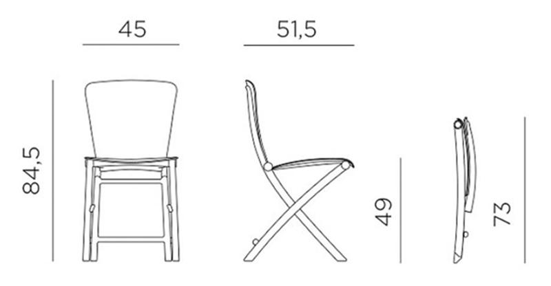 Kích thước ghế Zac Classic
